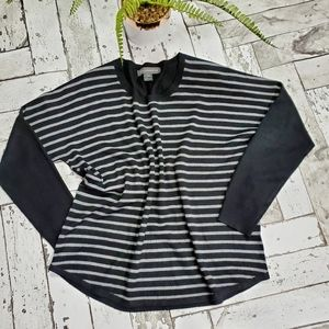 French Connection Striped Crew Neck Sweater L